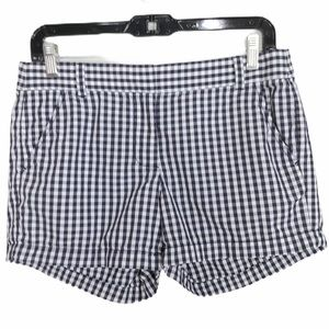 J. Crew navy gingham shorts